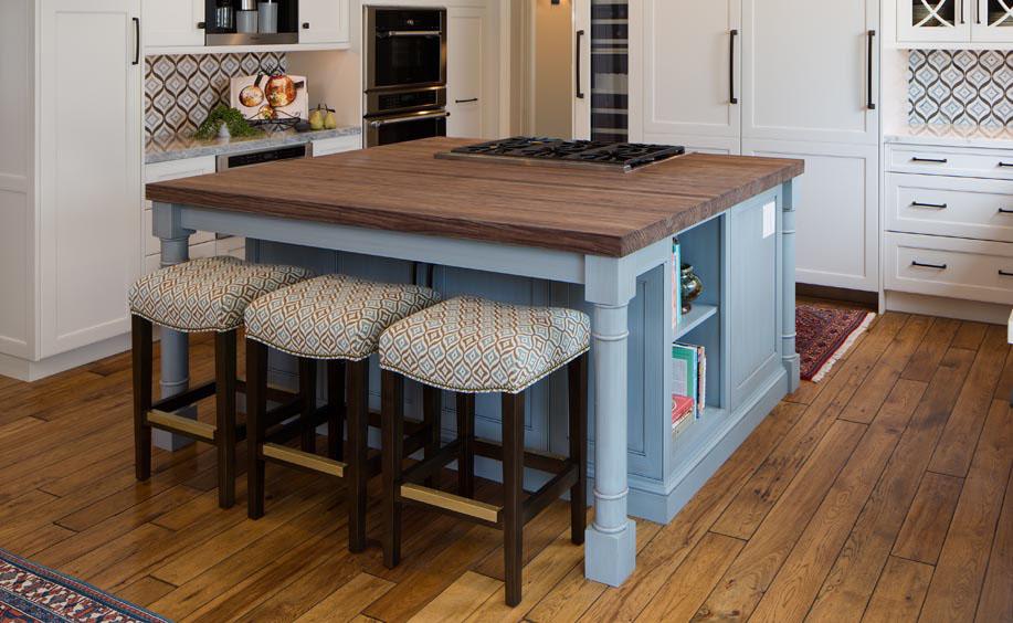 spekva wooden island countertop kitchen seating