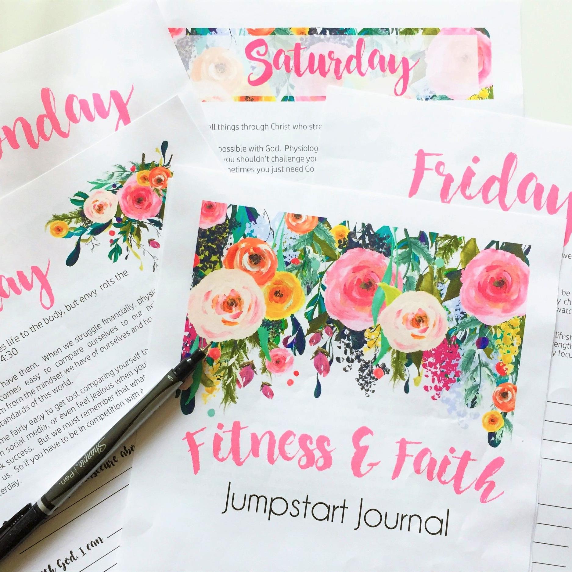 Just Being Britt Fitness and Faith Jumpstart Journal