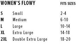 Flowy Muscle Tank Size Guide