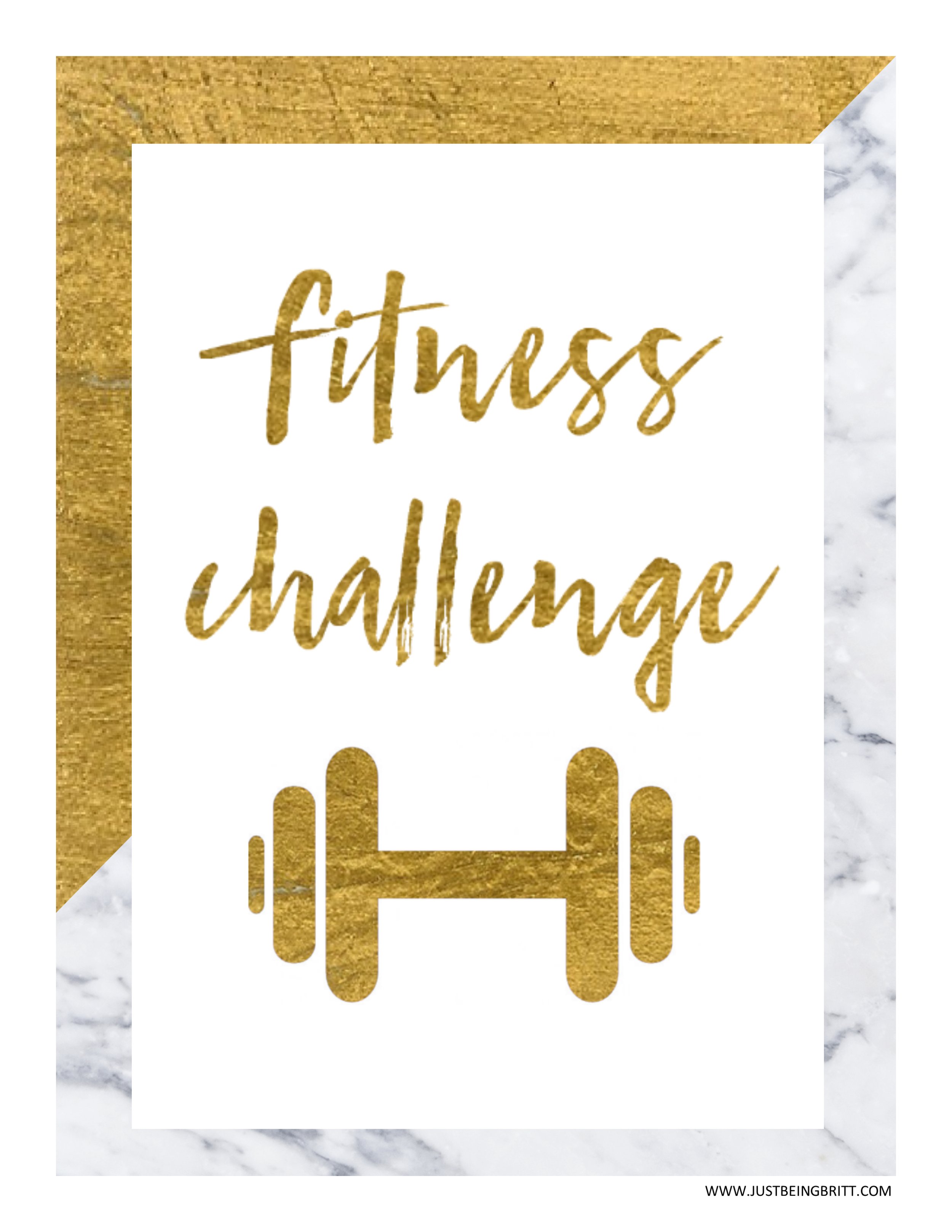 Fitness Lifestyle Blog Just Being Britt Fitness Challenge