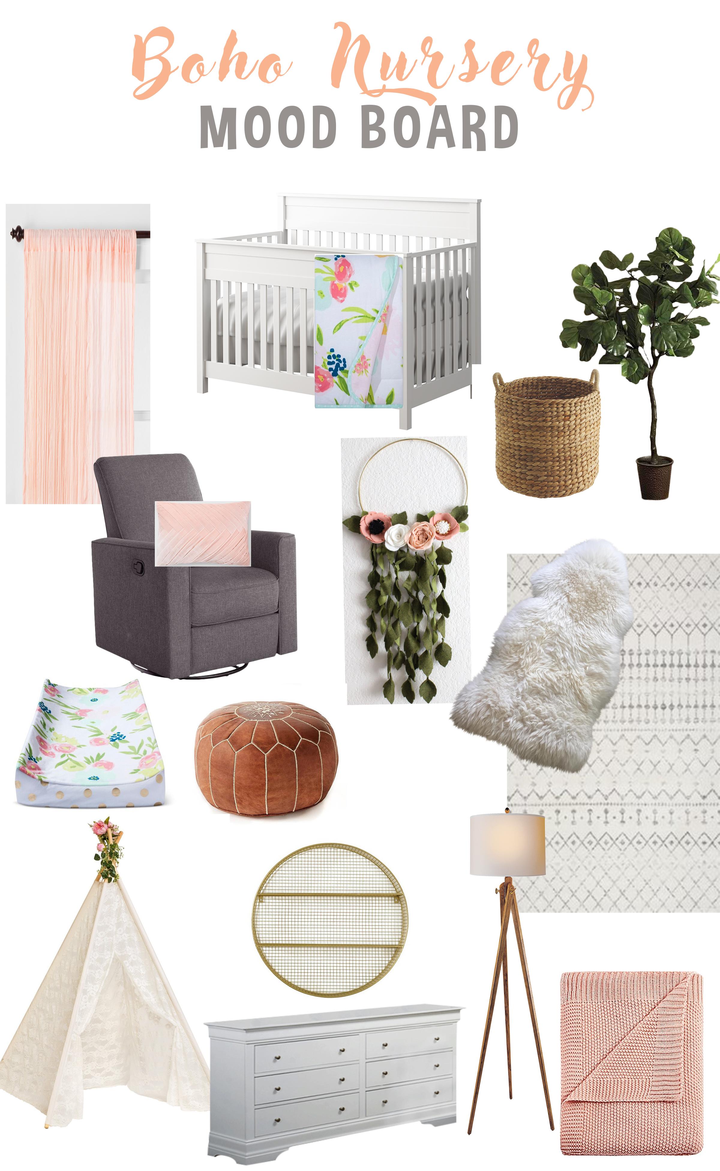 Just Being Britt Brittany Jenkins Pregnancy Journey Boho Nursery Mood Board