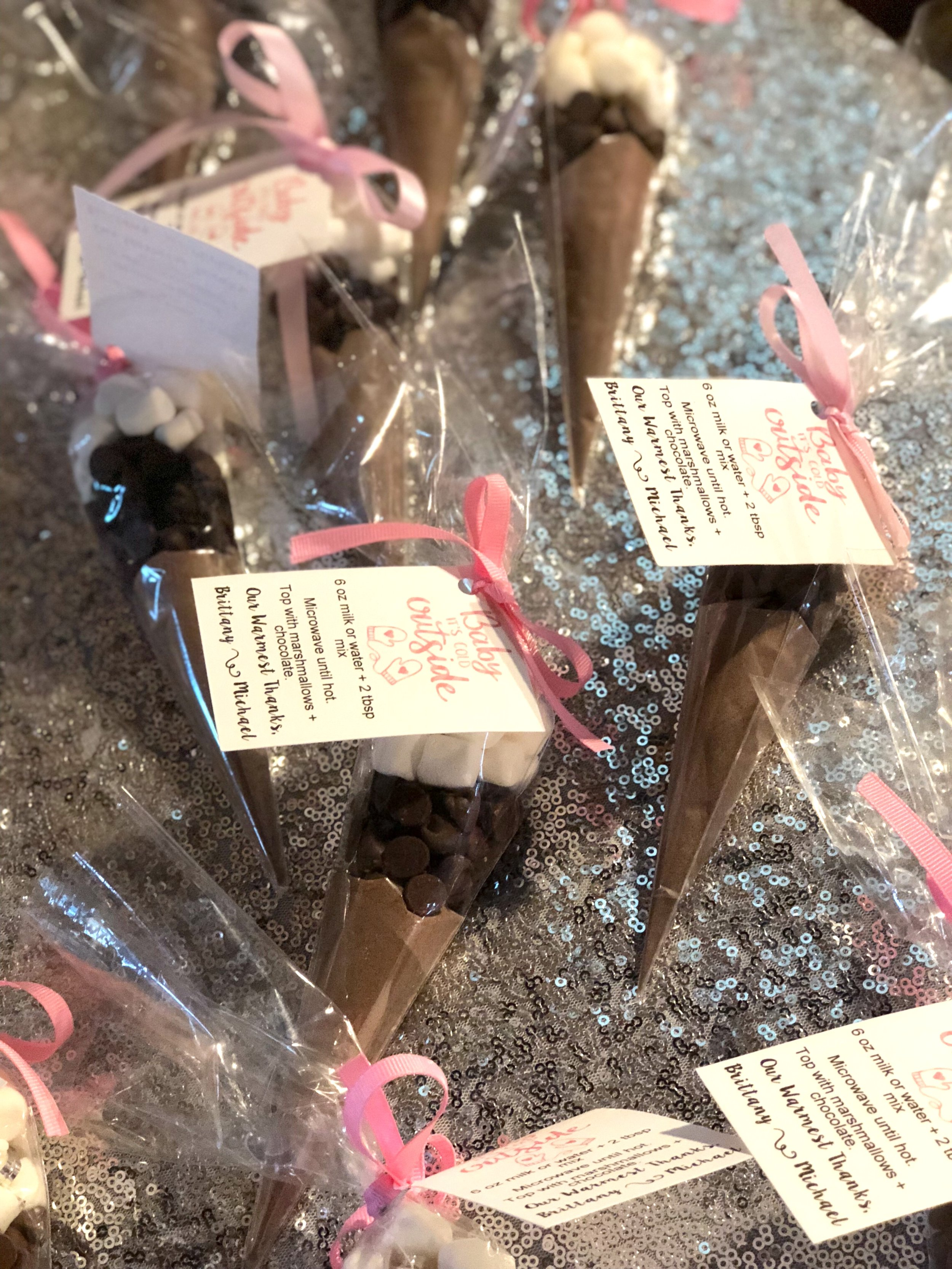 Just Being Britt Brittany Jenkins Baby It's Cold Outside Baby Shower Favors Pregnancy Journey