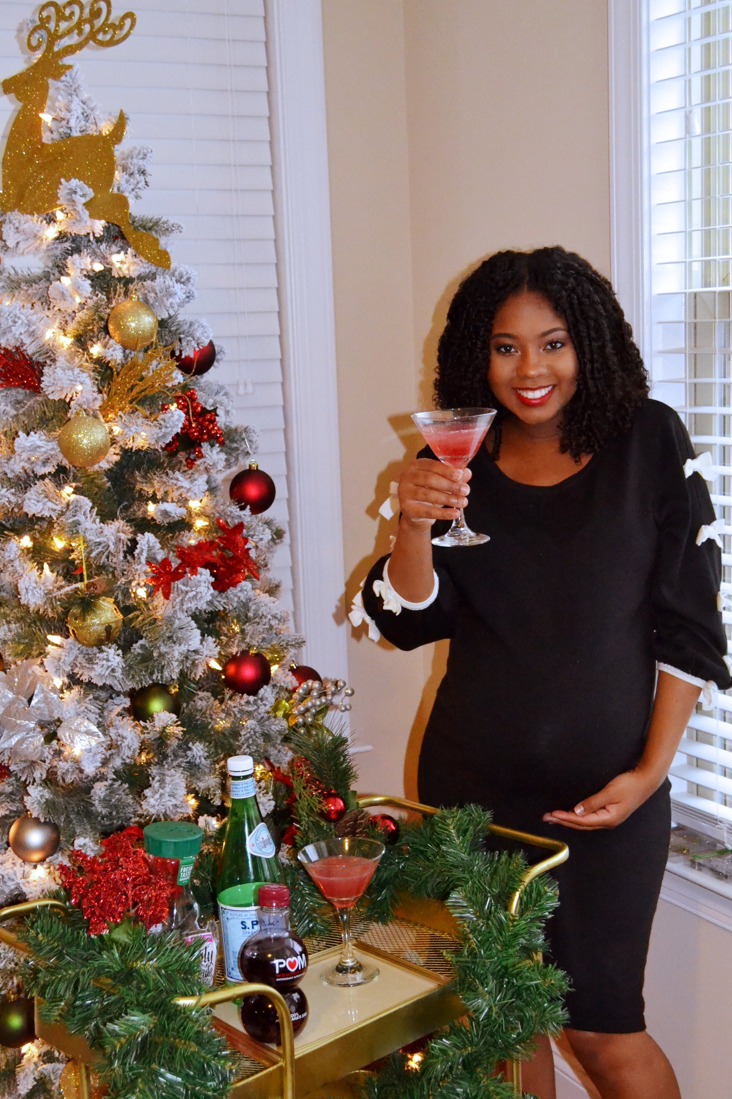 Just Being Britt Brittany Jenkins Merry Mocktail Holiday Pregnancy Mocktail Recipes #BabyJenkinsJourney