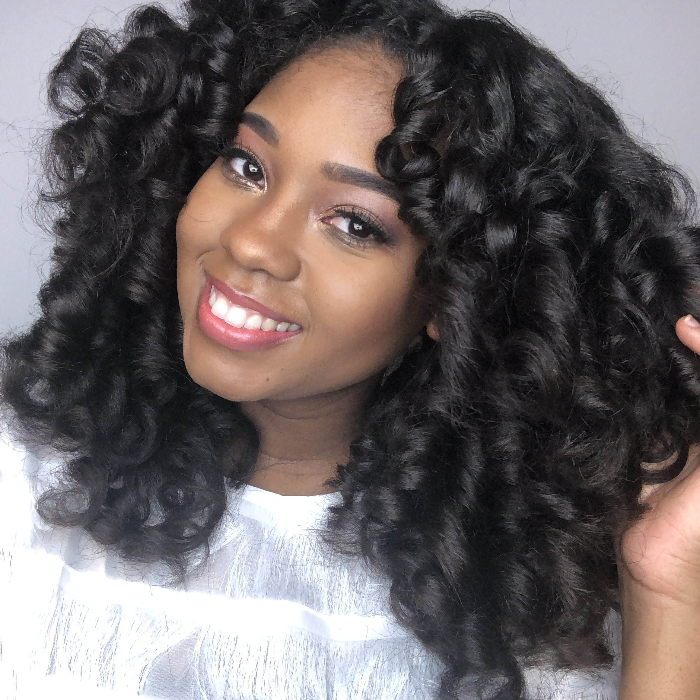 The Mane Choice Black Peach Tea Collection Perm Rod Set Natural Hairstyle JustBeingBritt Just Being Britt Fitness Beauty Lifestyle Blog