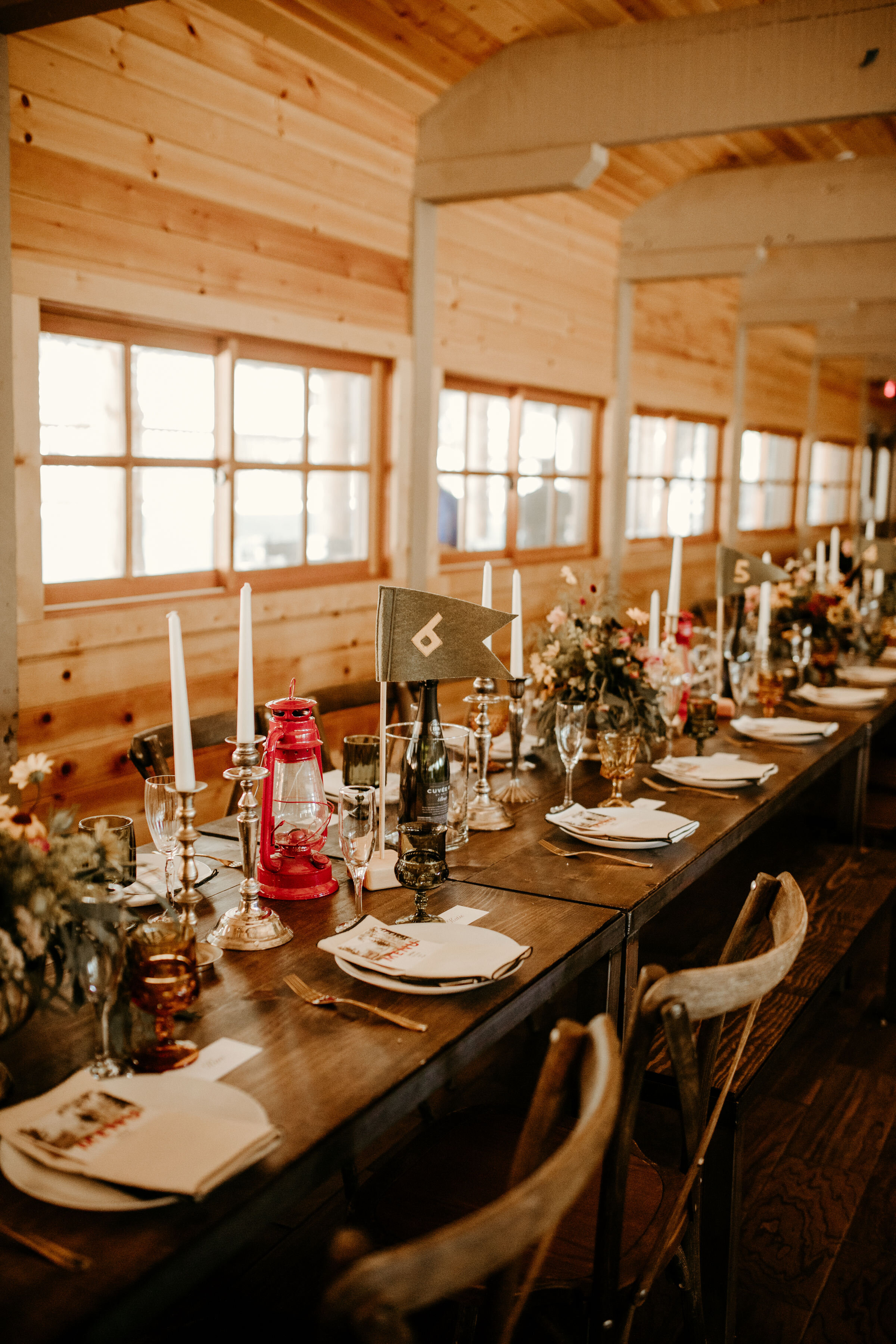 Camp theme wedding