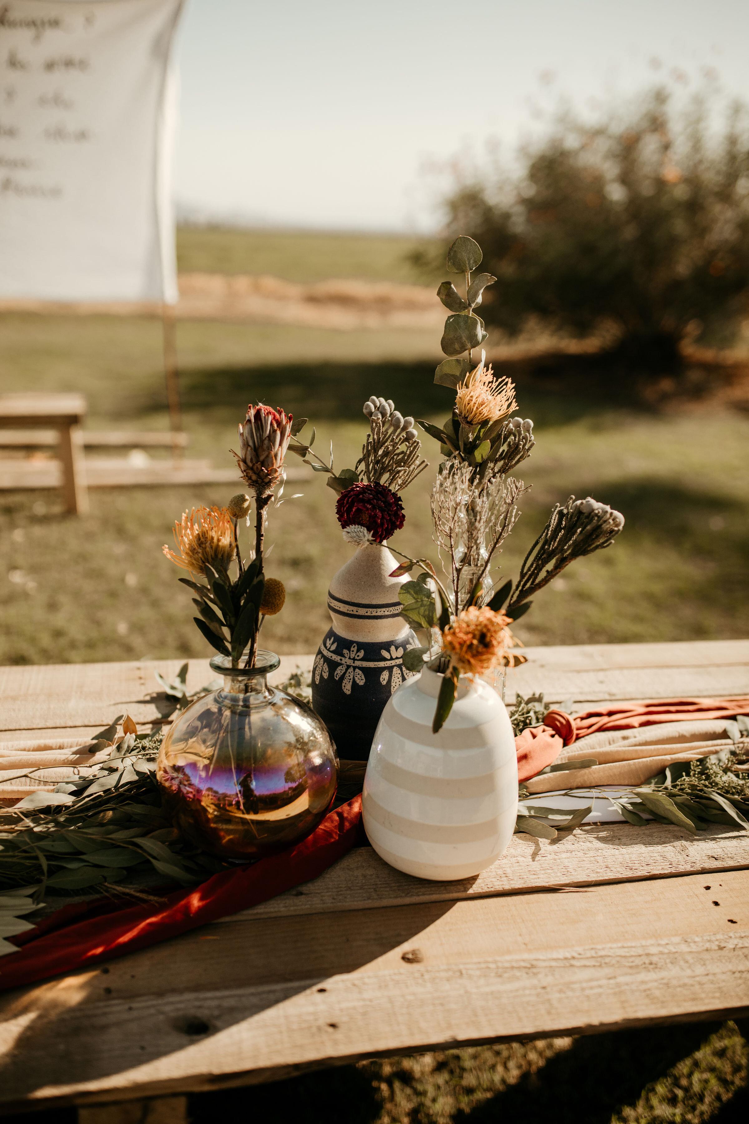Farm wedding decor