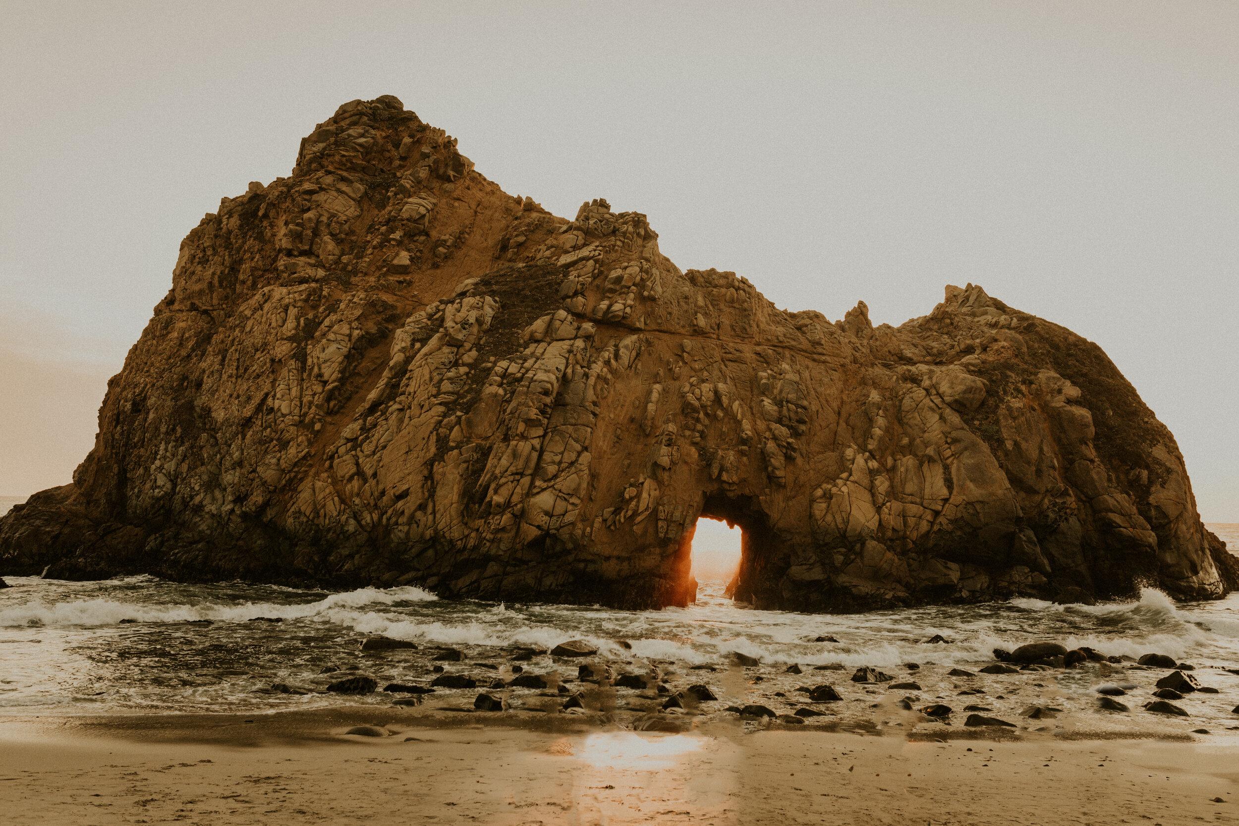 Pfeiffer Beach keyhole