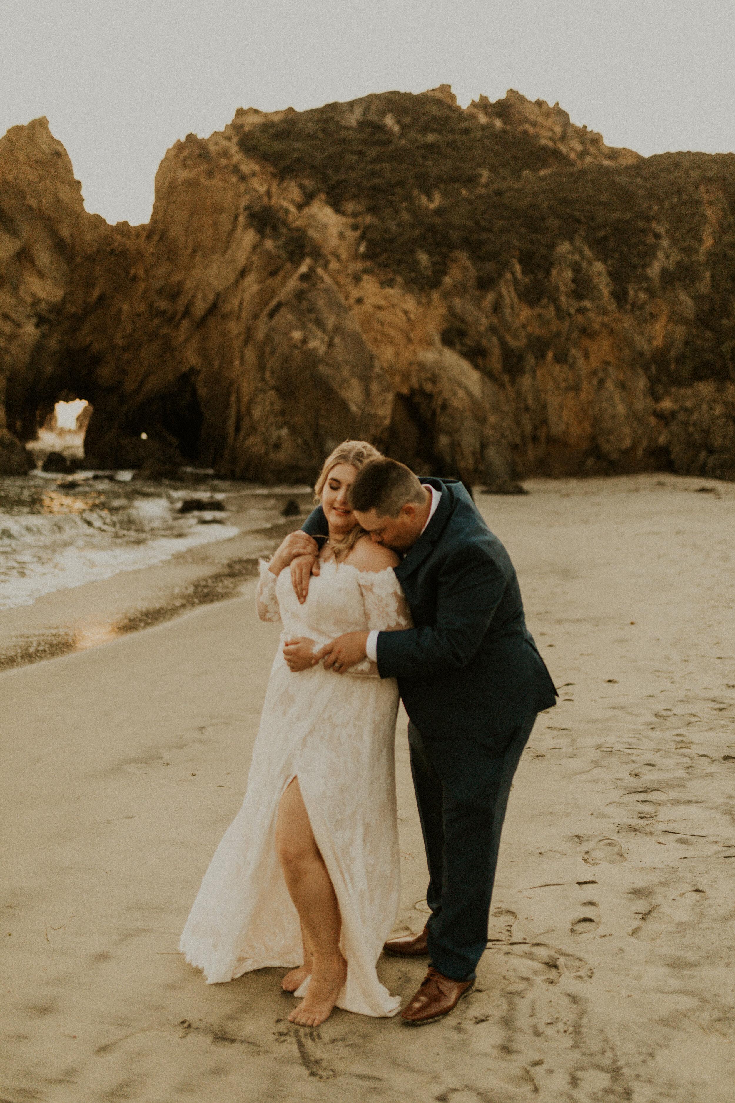 A couple at Pfeiffer Beach Big Sur