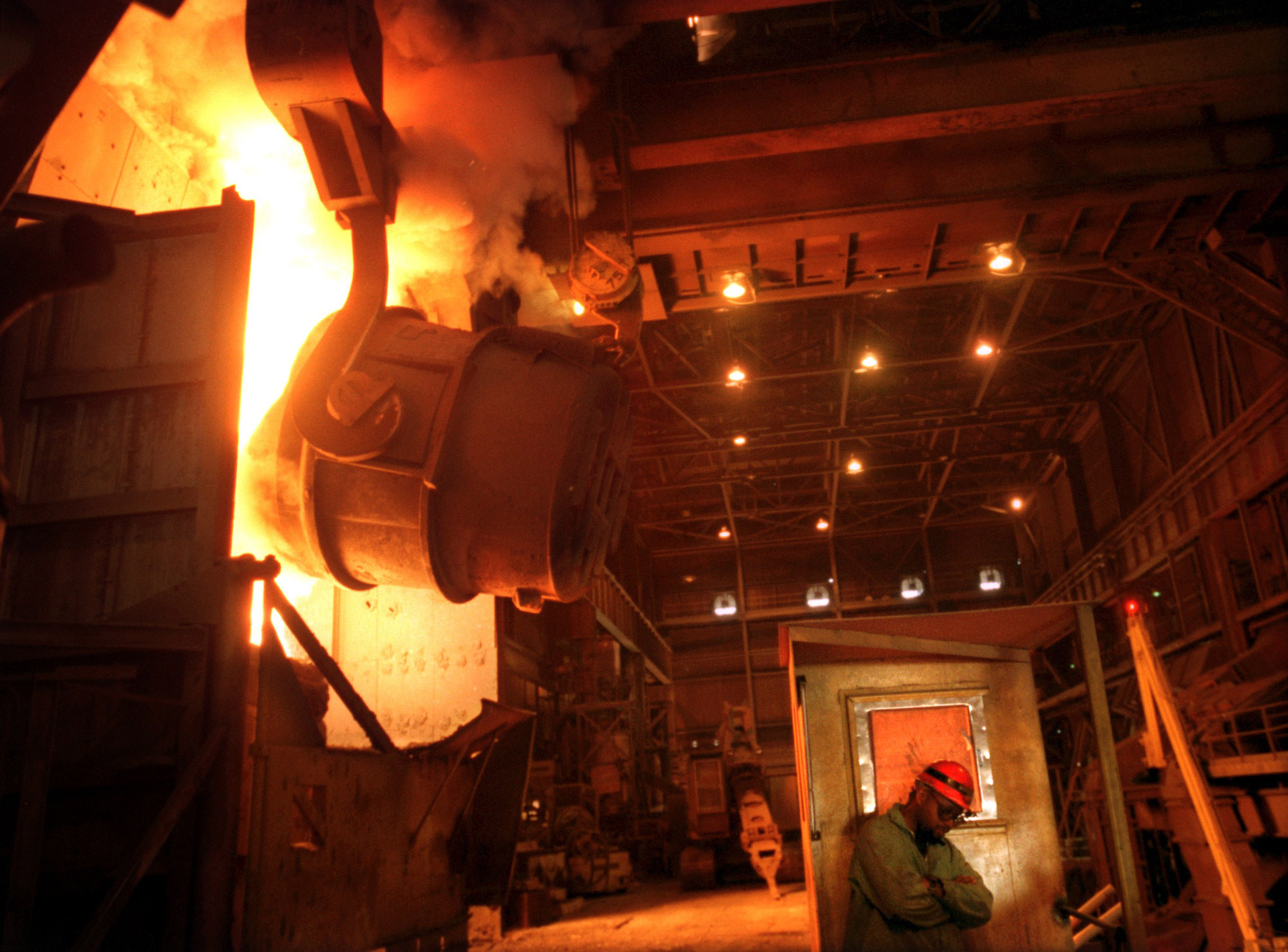Steel production at Braddock's Edgar Thomson Works.