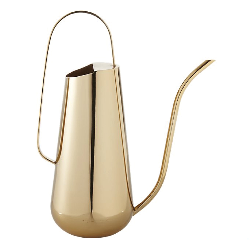 Gift Guide for Her 2016 - Simple Brass Watering Can