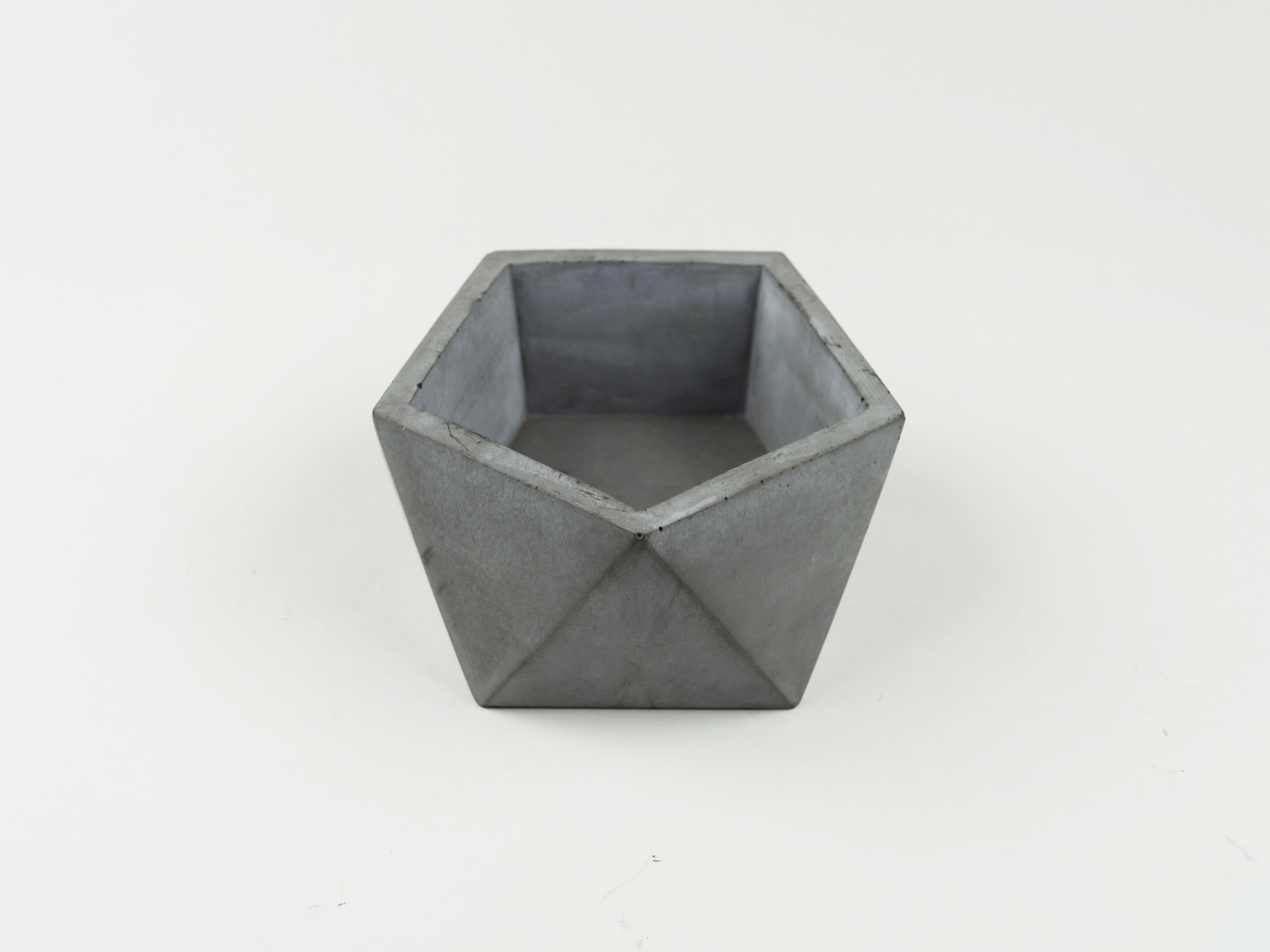 Copy of Dark Gray Colored Concrete Vessel Handmade by The Savvy Heart