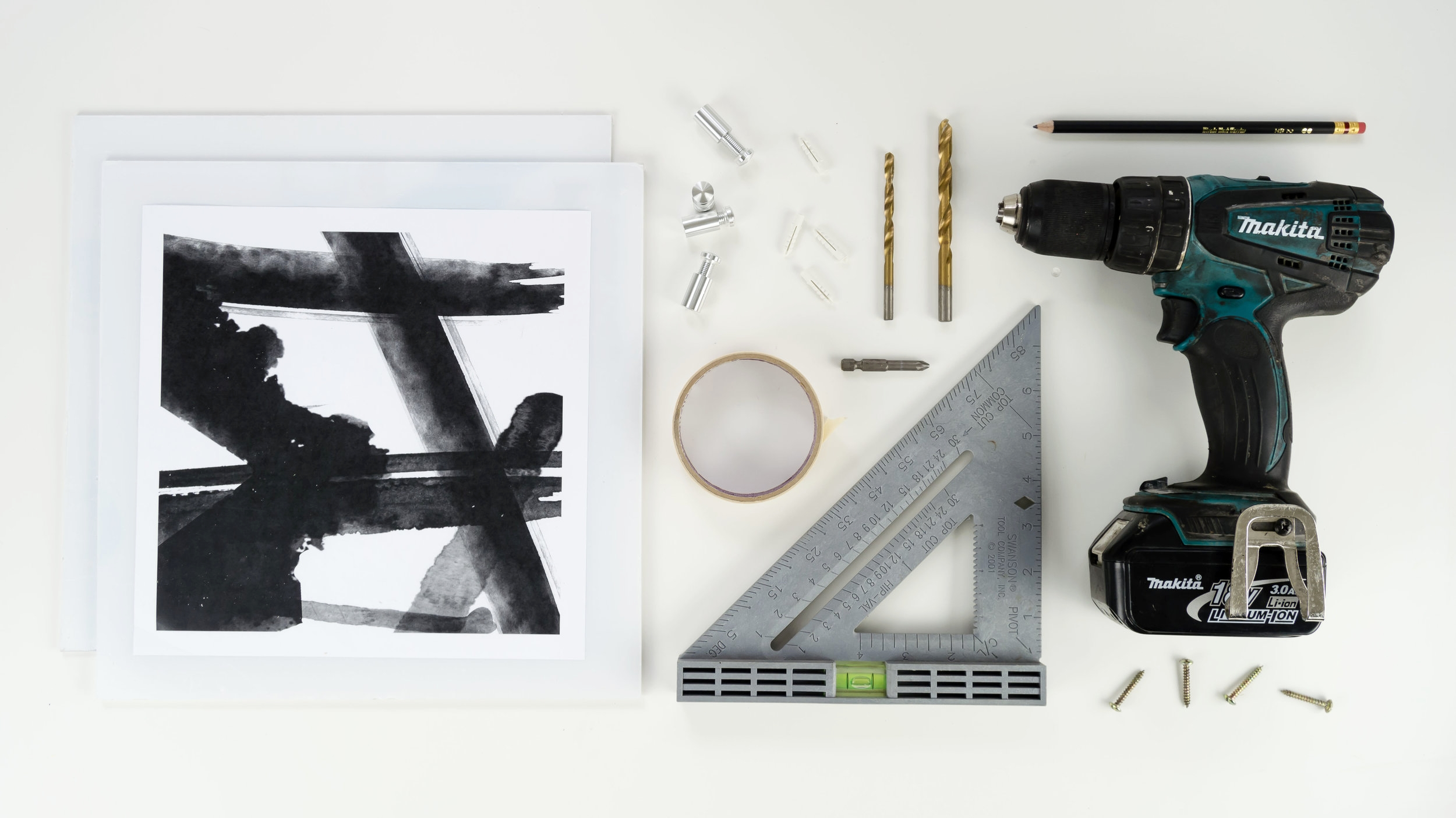 Materials Needed for to make a DIY Acrylic Frame