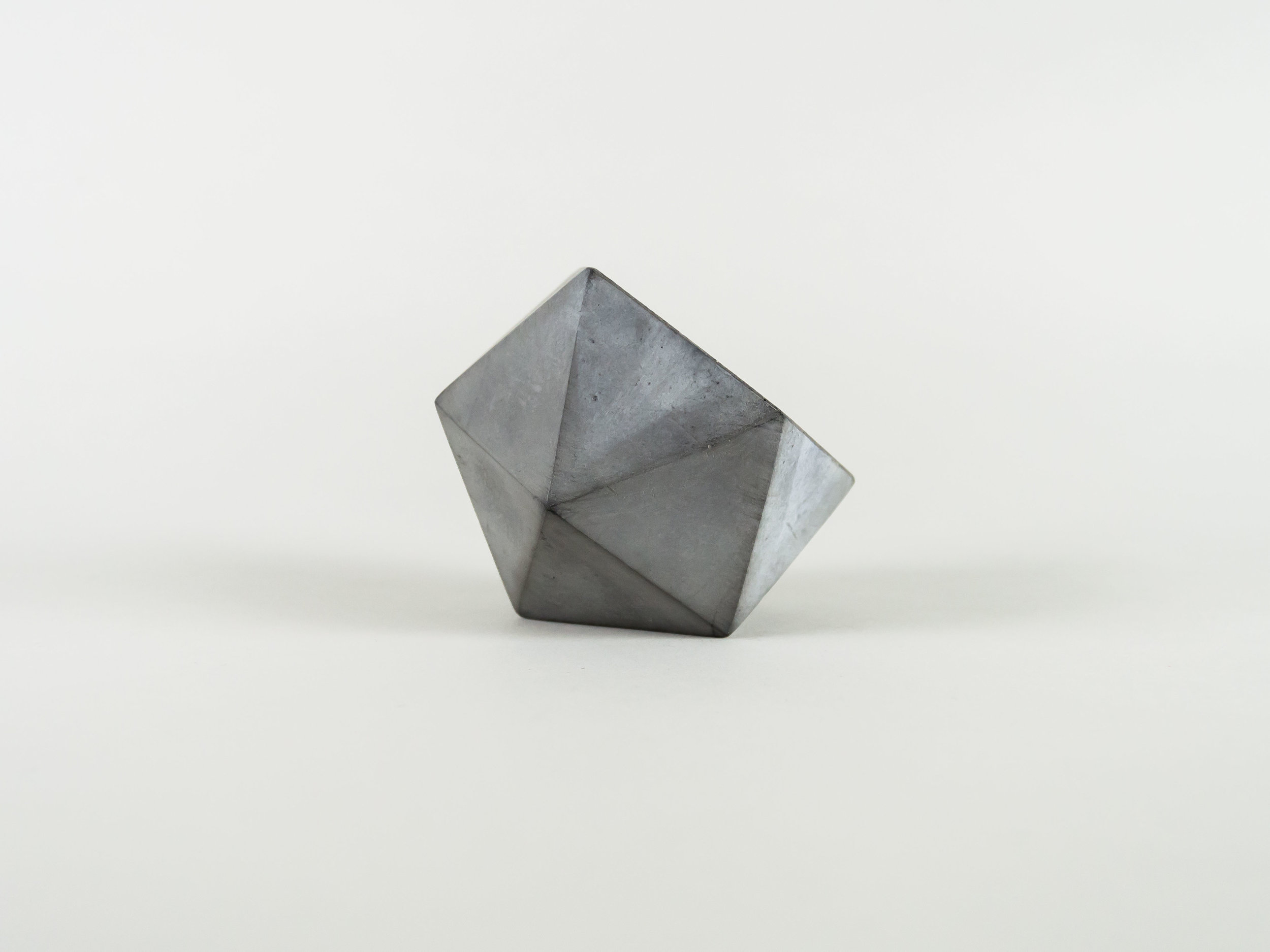 Modern Dark Grey GeometricConcrete Succulent Planter by The Savvy Heart