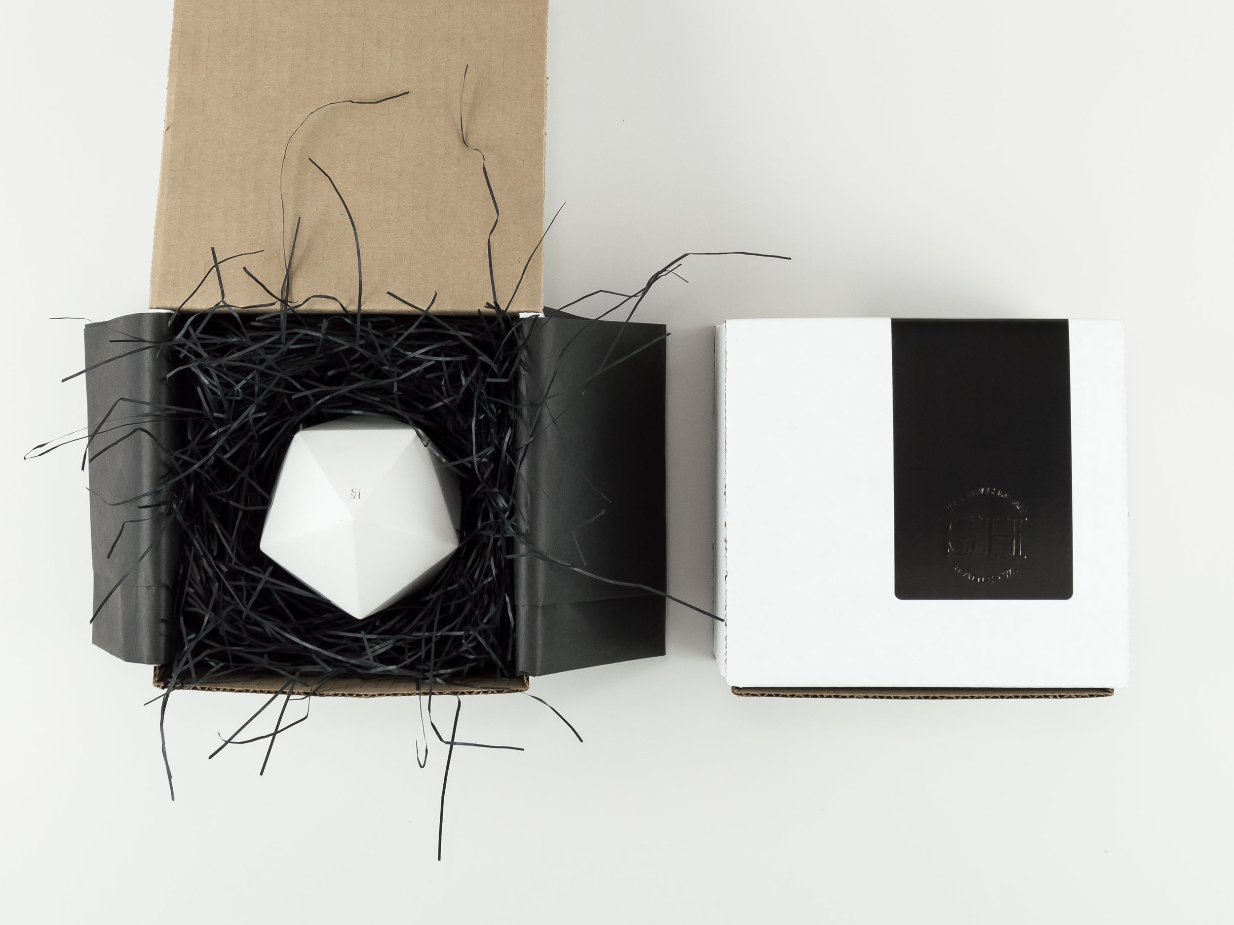 Packaging and Gift Wrapping for a Concrete Vessel from The Savvy HEart