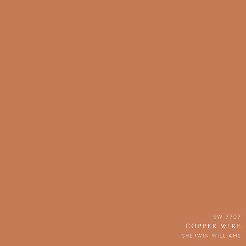 Copper Wire Paint Color by Sherwin Williams
