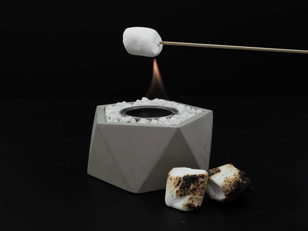 Create an indoor/outdoor firepot by using our large vessel!