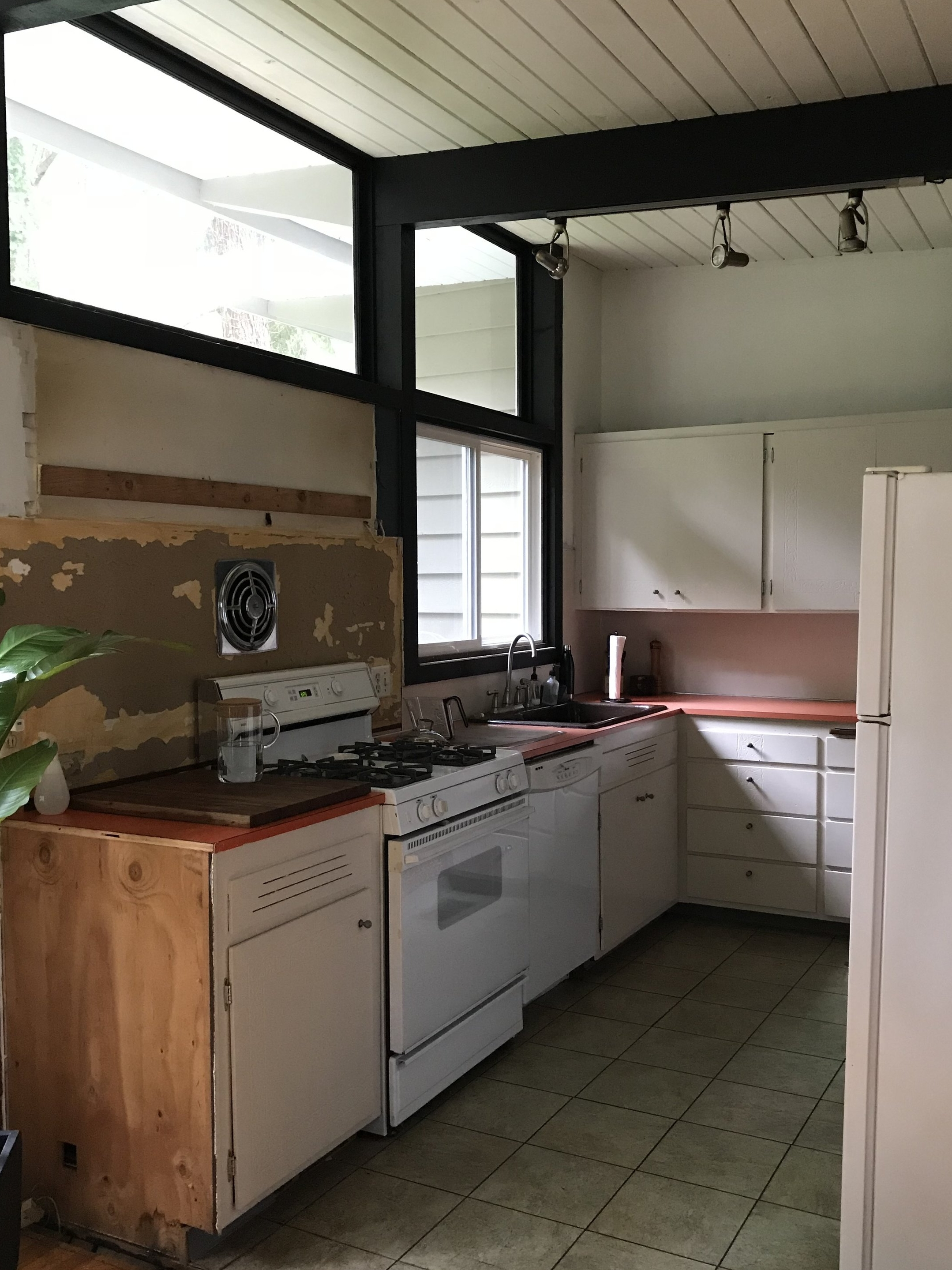 Before Kitchen Remodel - Mid Century Modern Home in Seattle