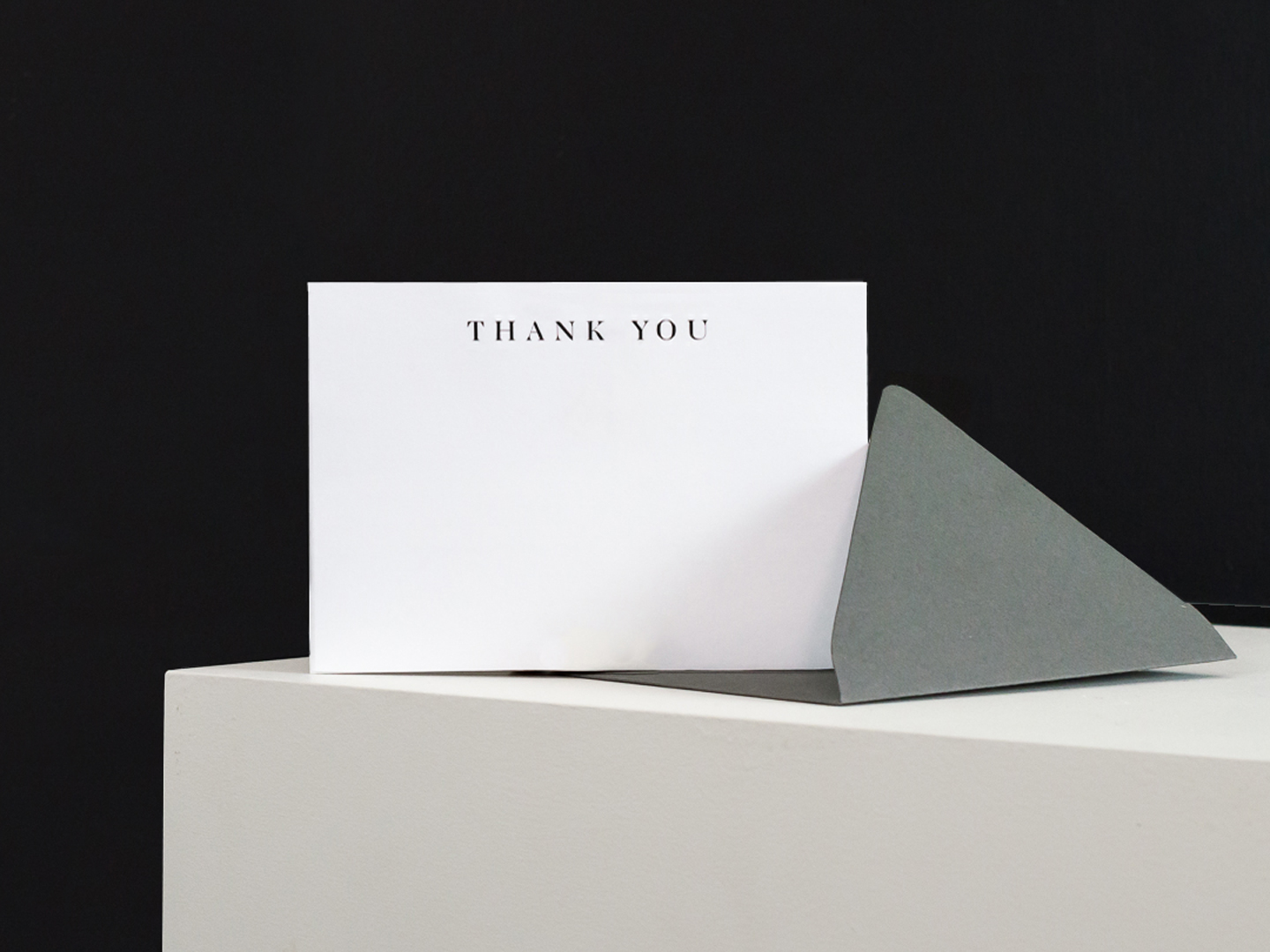 Ultra Triple Thick Flat Thank You Note Card by The Savvy Heart