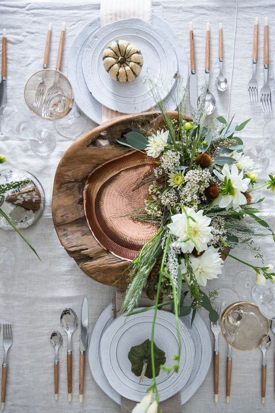 Simple and neutral Table setting ideas for thanksgiving dinner by the savvy heart.jpg