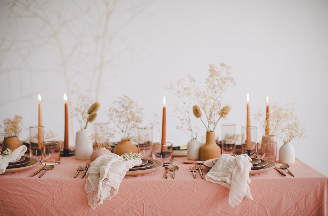 Simple Table setting ideas for thanksgiving dinner with pops of terracotta and oragne by the savvy heart.jpg