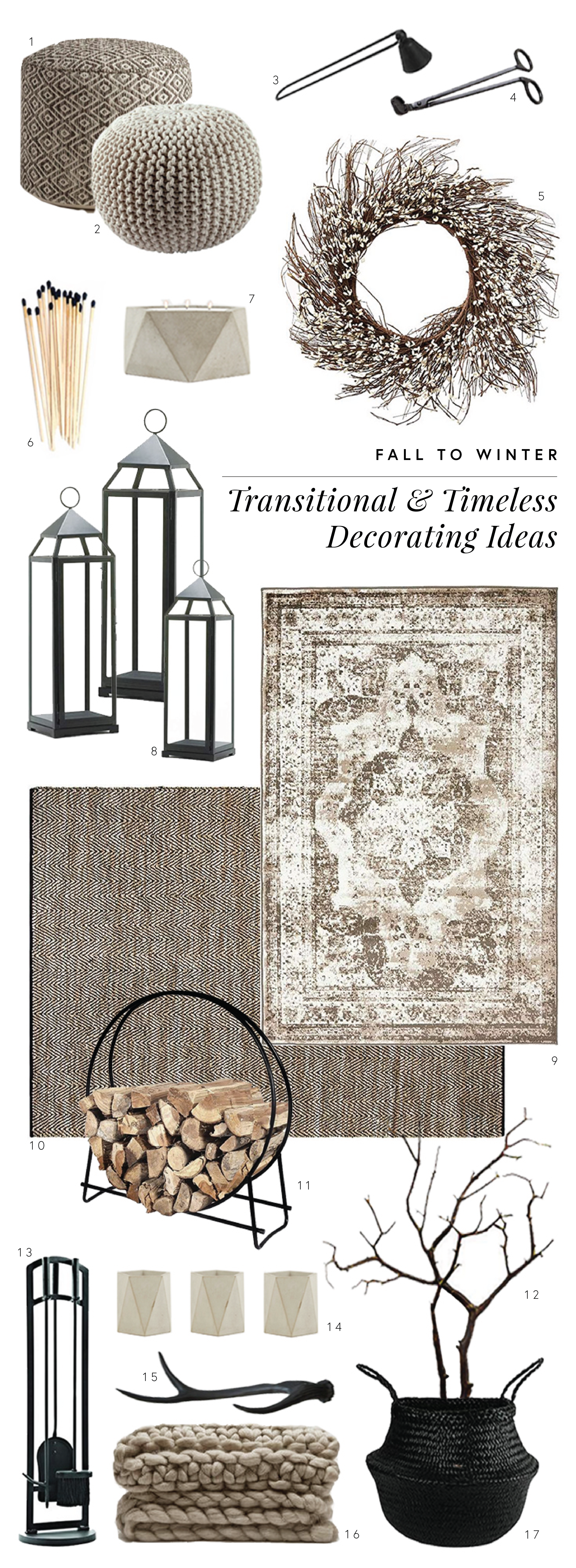 Fall to winter Decorating Ideas for a timeless and modern home