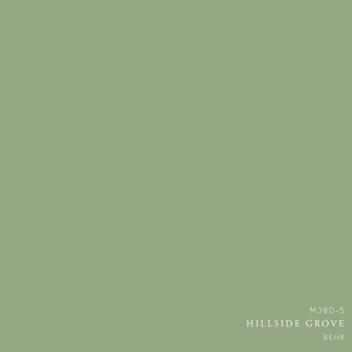 Hillside Grove paint color by Behr - Decorating with Hunter green and mint color palette