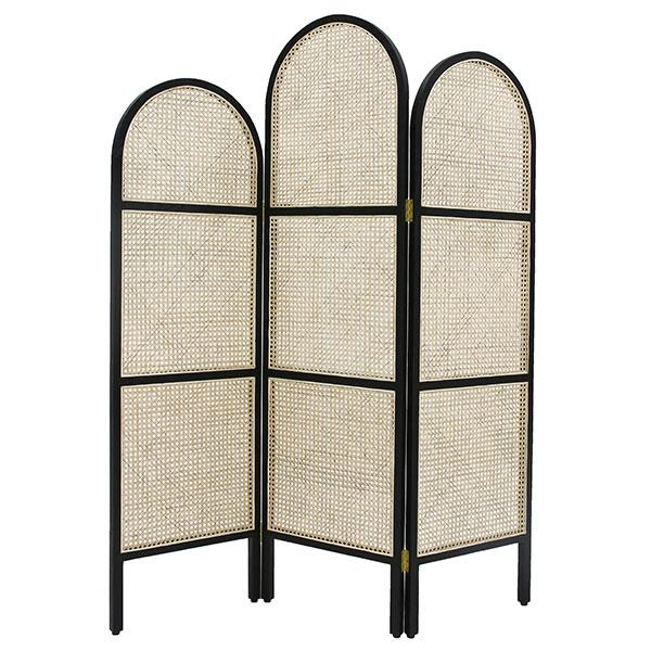 Black and Wood Woven Cane Rattan Room Divider Screen - Spring 2019 Furniture Trends by The Savvy Heart