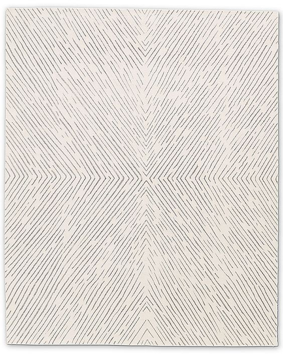 Cream and Beige Zig Zag Pattern Rug for An Elegant modern Dining Room Design.jpg