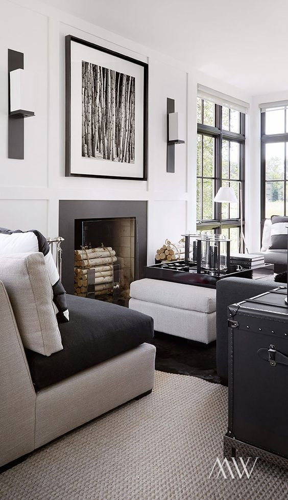 Eclectic modern space with black and white accents- his and hers decorating tips.jpg