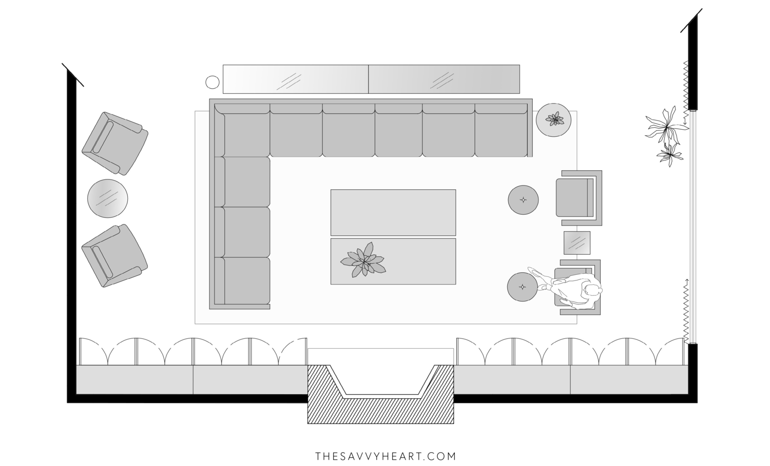 10 Furniture Layout Ideas for a Large Living Room, with Floor Plans