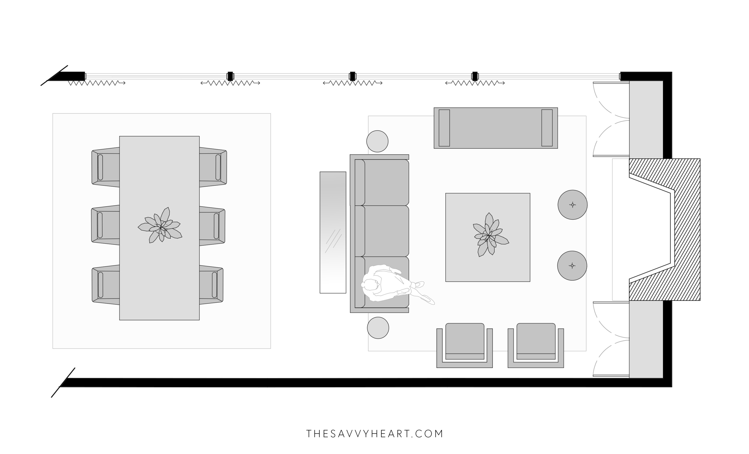 5 Furniture Layout Ideas for a Large Living Room, with Floor ...