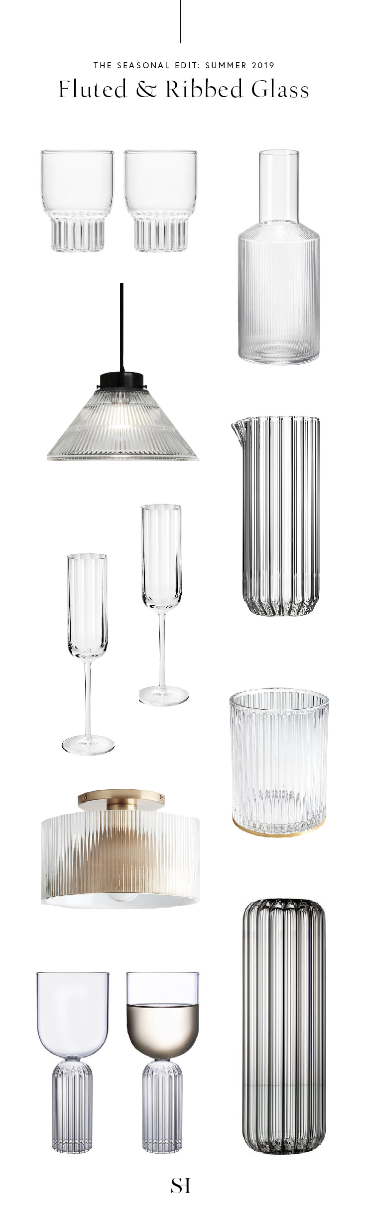 Summer 2019 Seasonal Edit - Current Trend is Fluted and Ribbed Glass.png