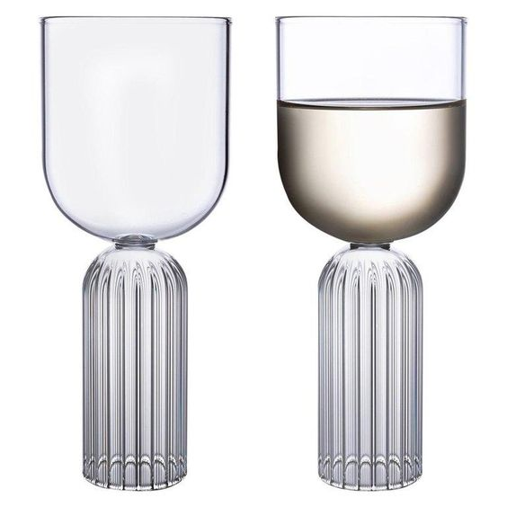 fluted and ribbed glasses with wine glass shape- 2019 and 2020 home decor trends.jpg