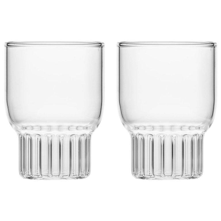 Small cocktail glass with ribbed and fluted texture - interior decor trends by the savvy heart.jpg