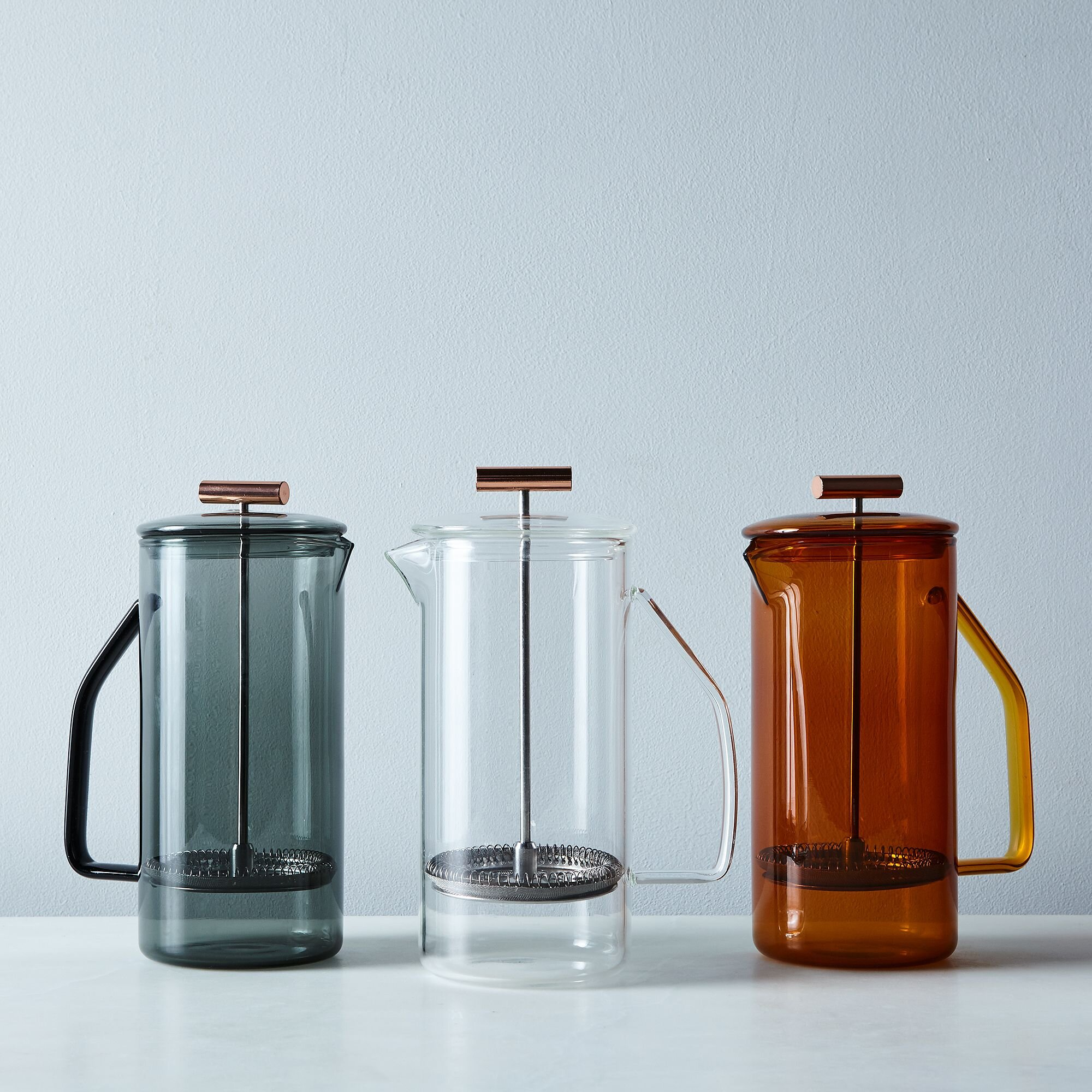 Amber colored glass french press by yield - fall 2019 interior design trend color palette.jpg