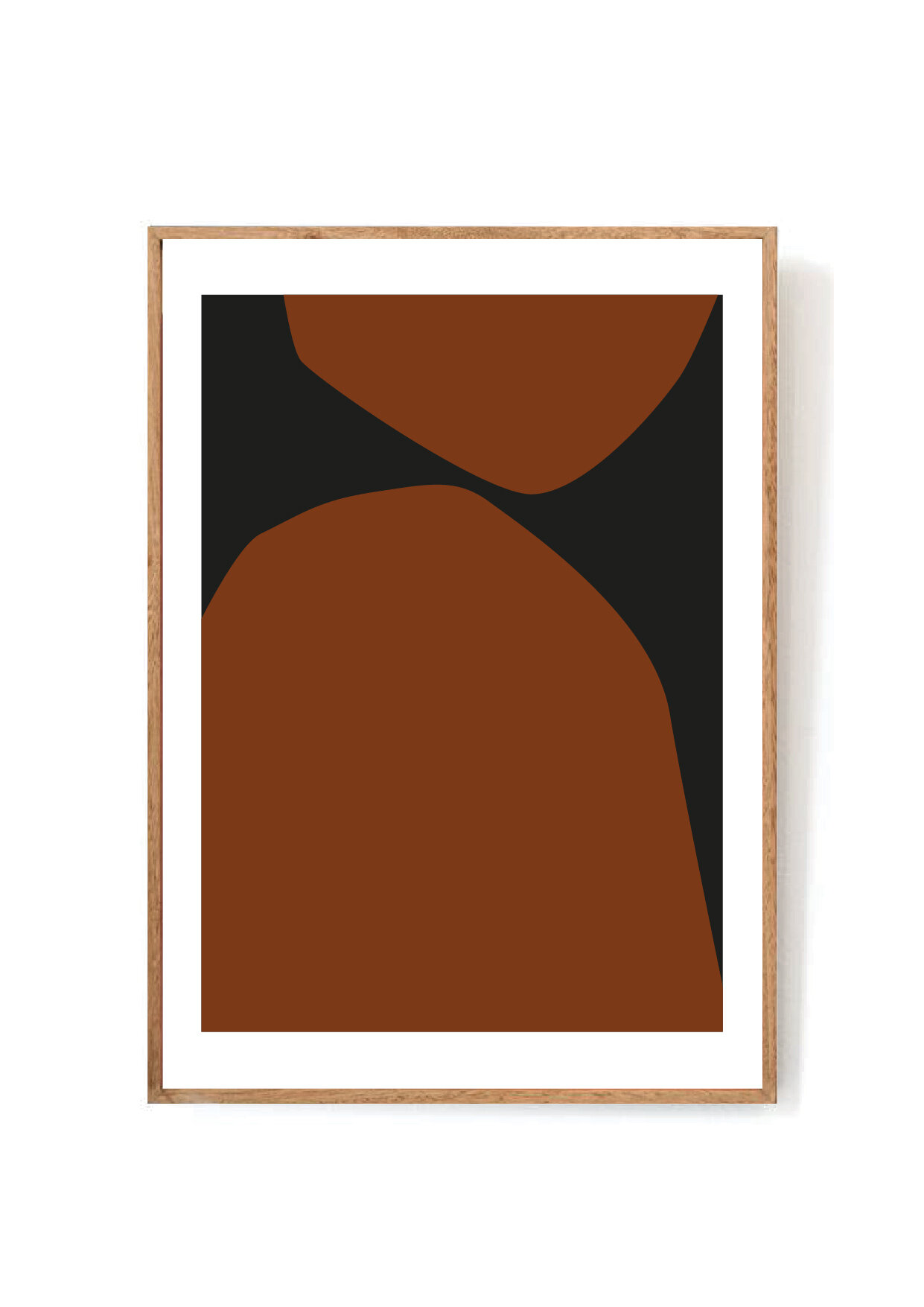 Karok abstract art print with burnt orange rust color and black - interior design trends for fall 2019.jpg