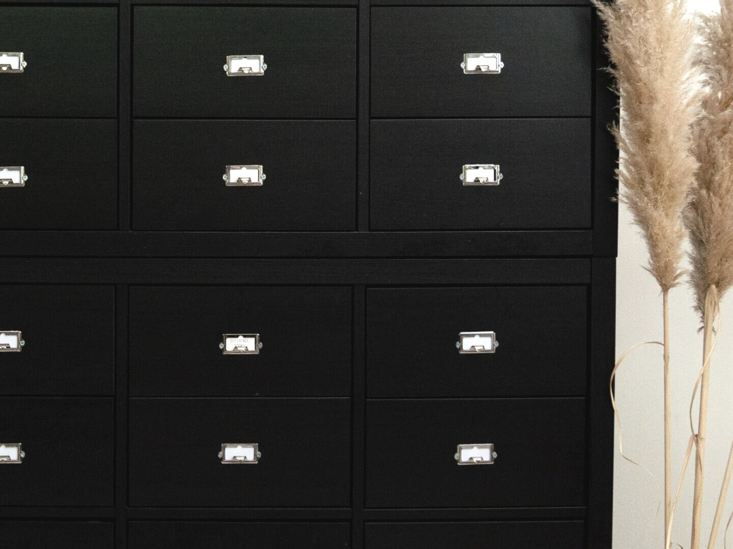 DIY Ikea hack with 32 drawers - library card catalog inspired by the savvy heart