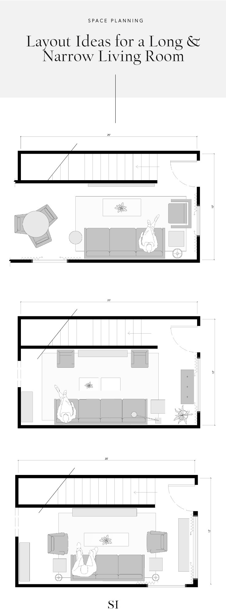 9 Floor Plans & Furniture Layout Ideas For A Long & Narrow Living
