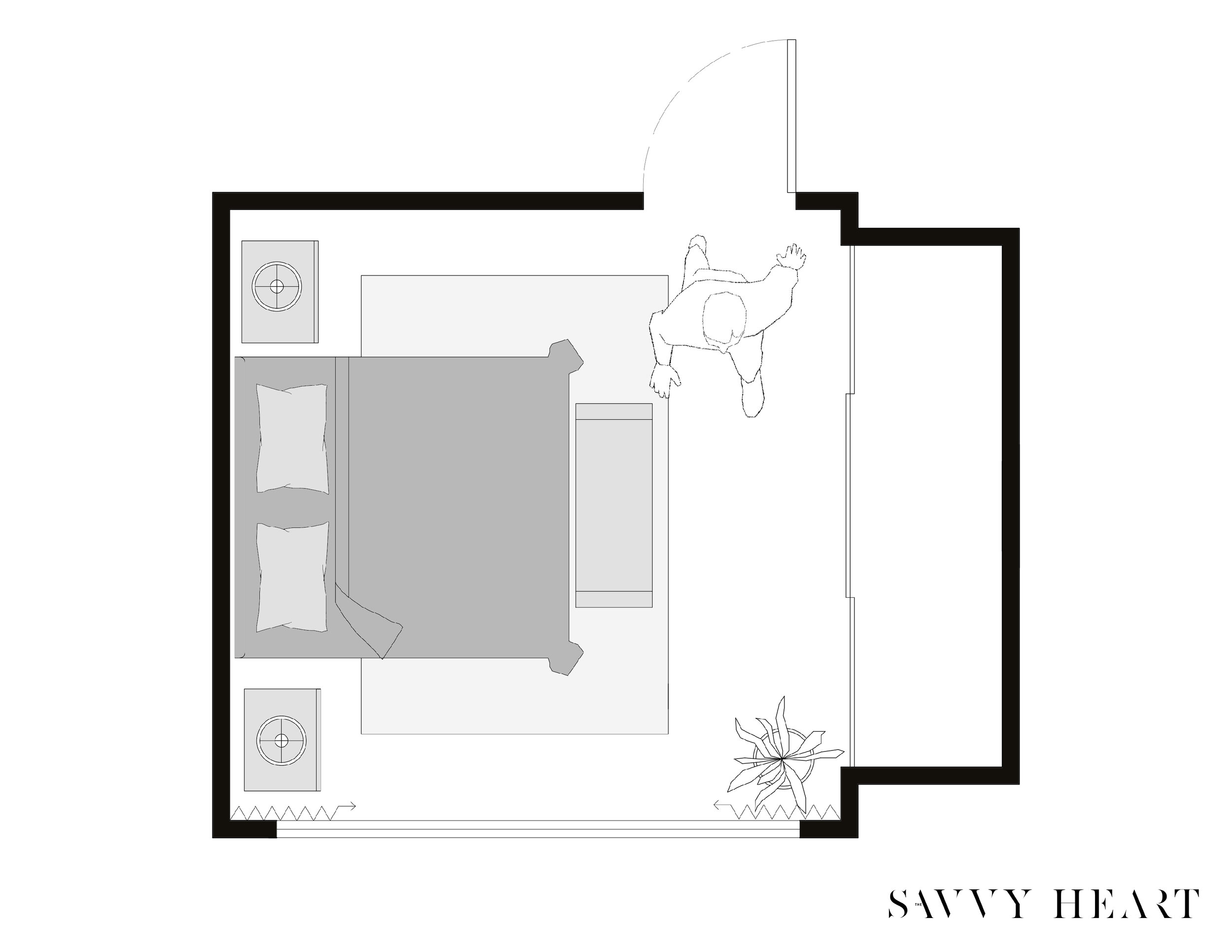 5 Layout Ideas For A 12 X 12 Square Bedroom W Floor Plans The Savvy Heart