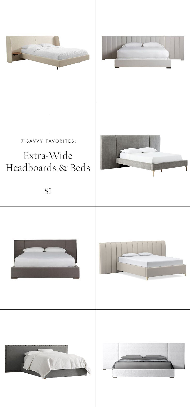 Savvy Favorites Extended Extra Wide Headboards For A Modern Bedroom The Savvy Heart