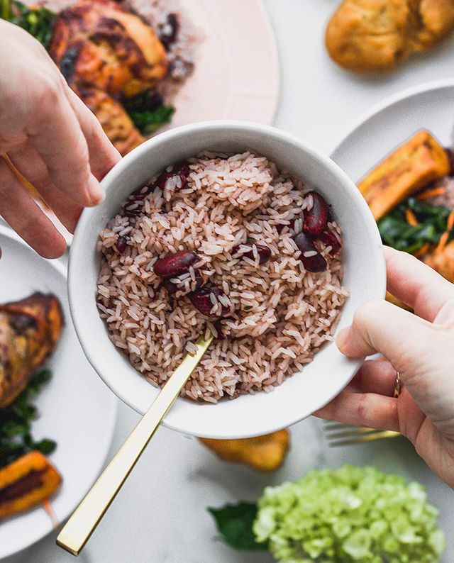 Our rice & peas are a must with every meal 🤤🤤🤤