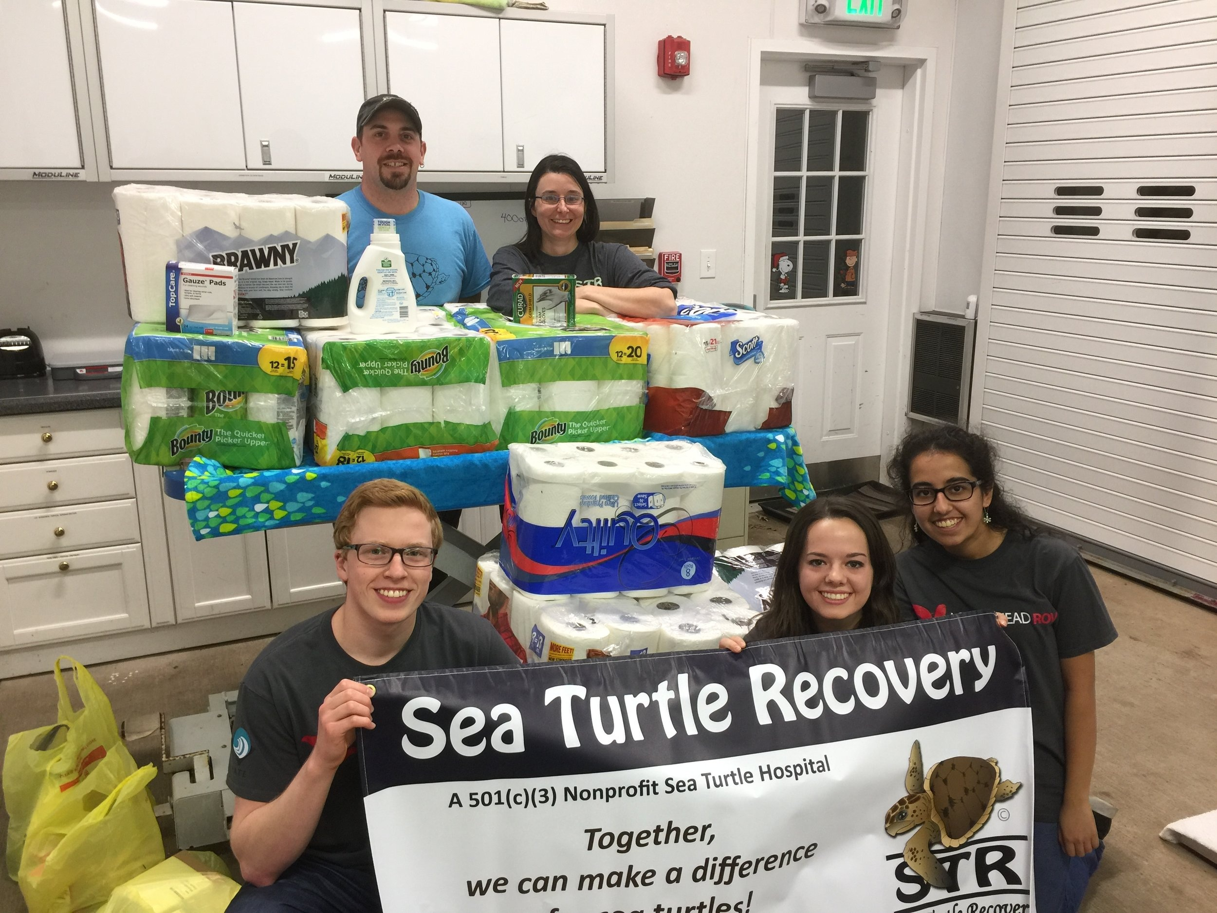 Delivering our donations we collected to assist Sea Turtle Recovery's efforts in caring for their sea turtle patients that arrived from Massachusetts's November cold stunning event.