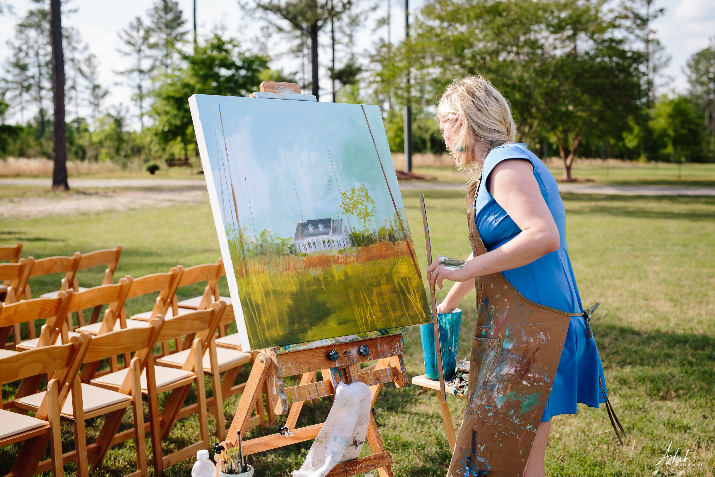 Macon GA Live painter