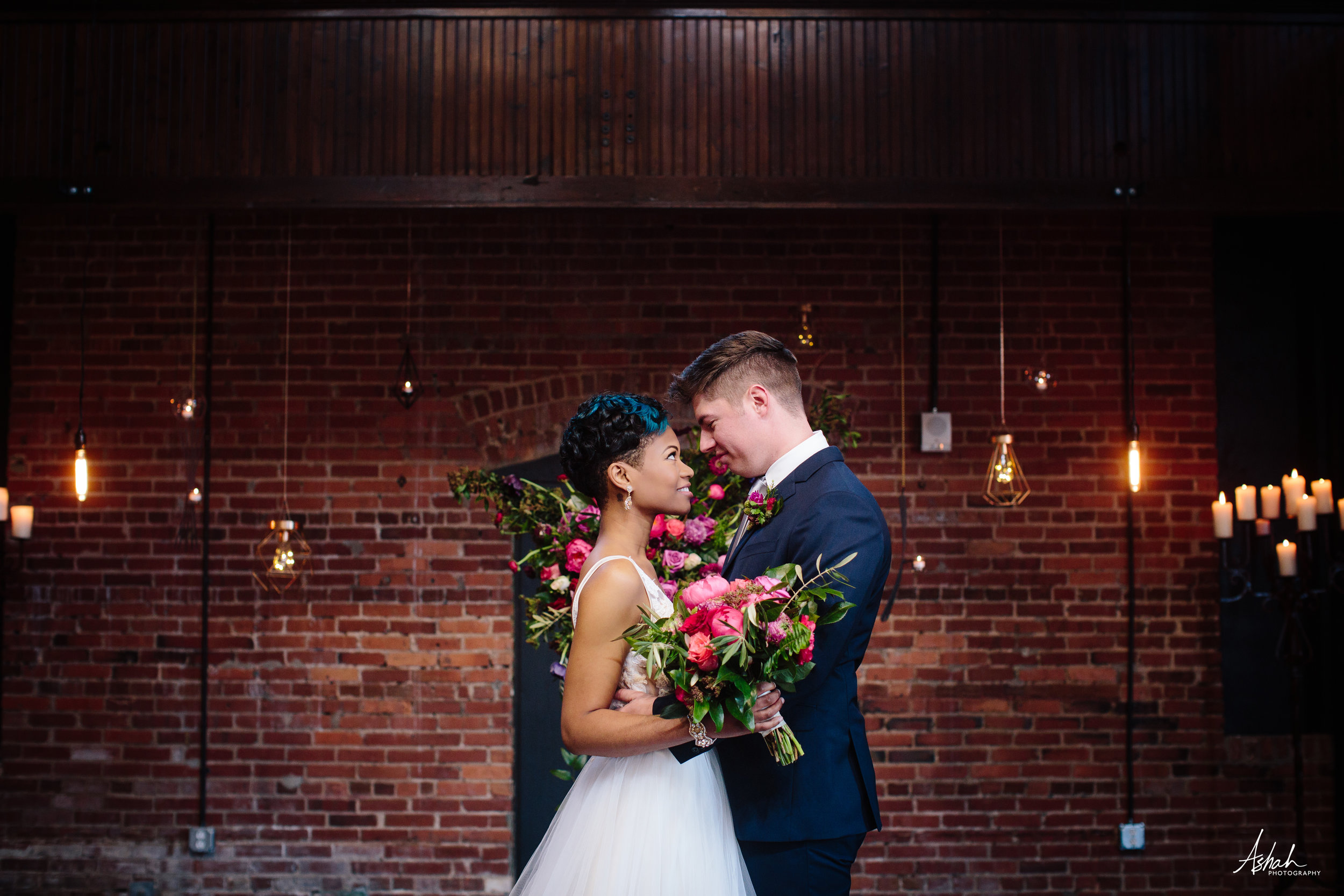 New City Weddings  | Photo:  Ashah Photography  | Flowers:  Southern Florals and Drapes
