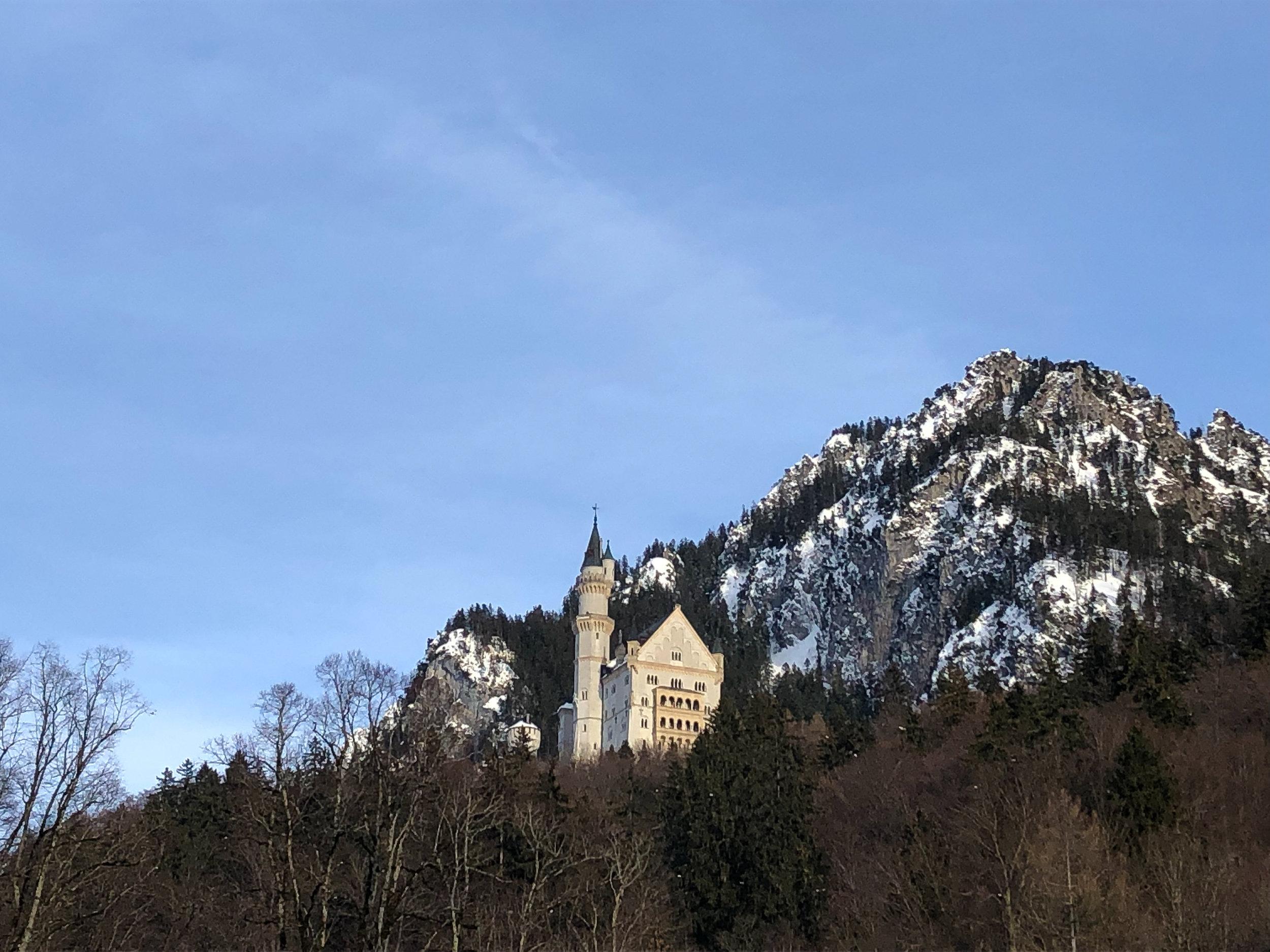 Neuschwanstein Schloß in the winter.