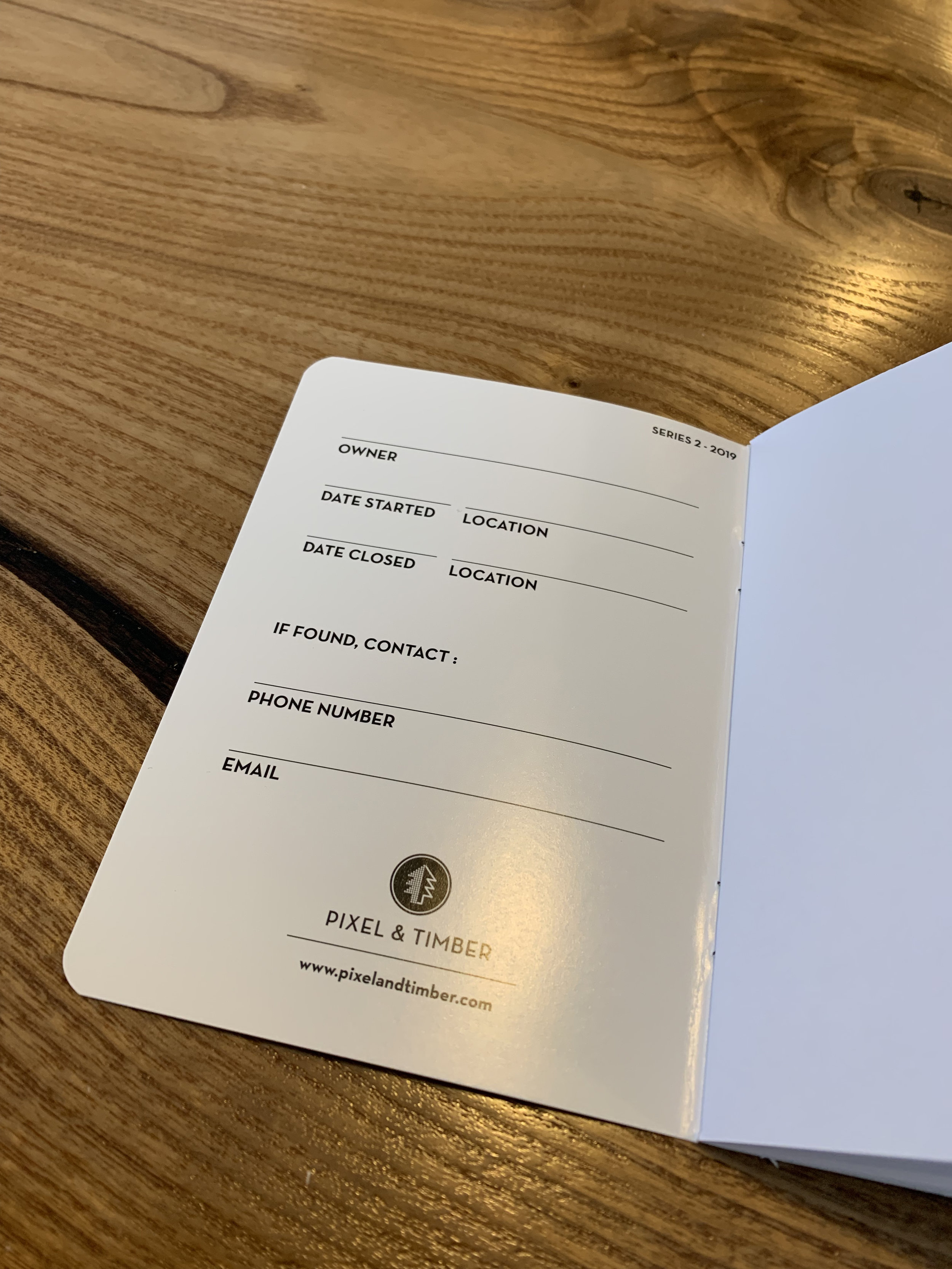 Inside the front cover, you'll find a space to jot some relevant owner info.