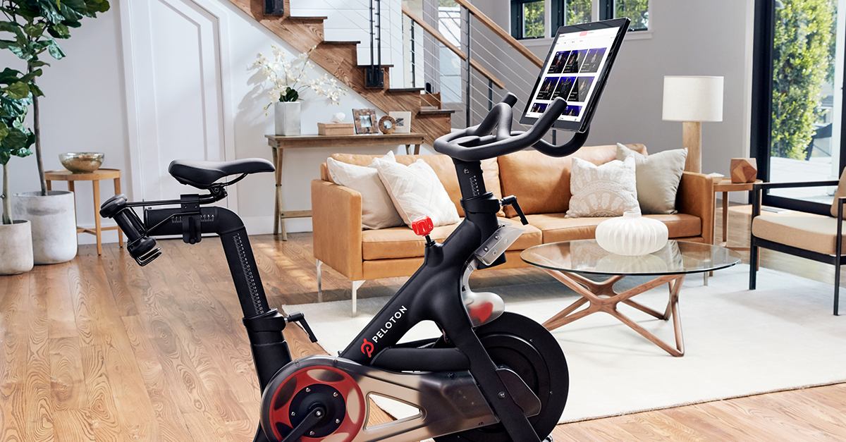 The centerpiece of any living room, an exercise bike.