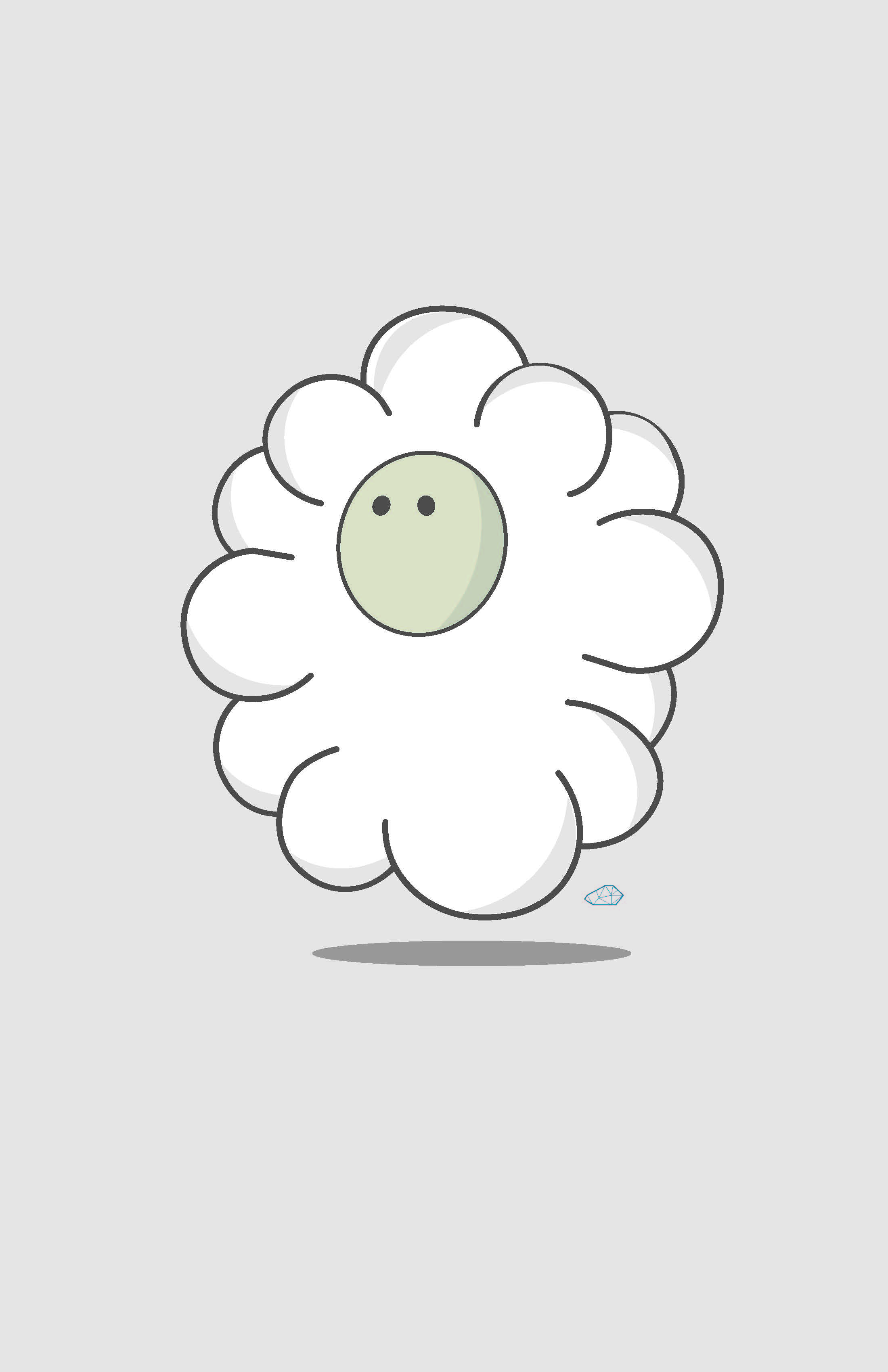 Illustration of cute creature called the minimal