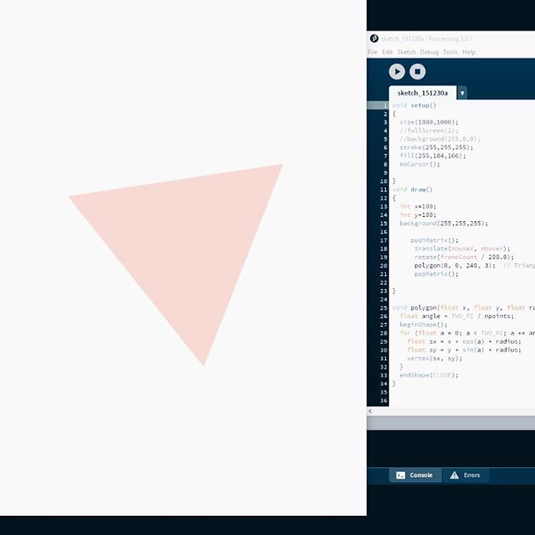 Triangle made with code
