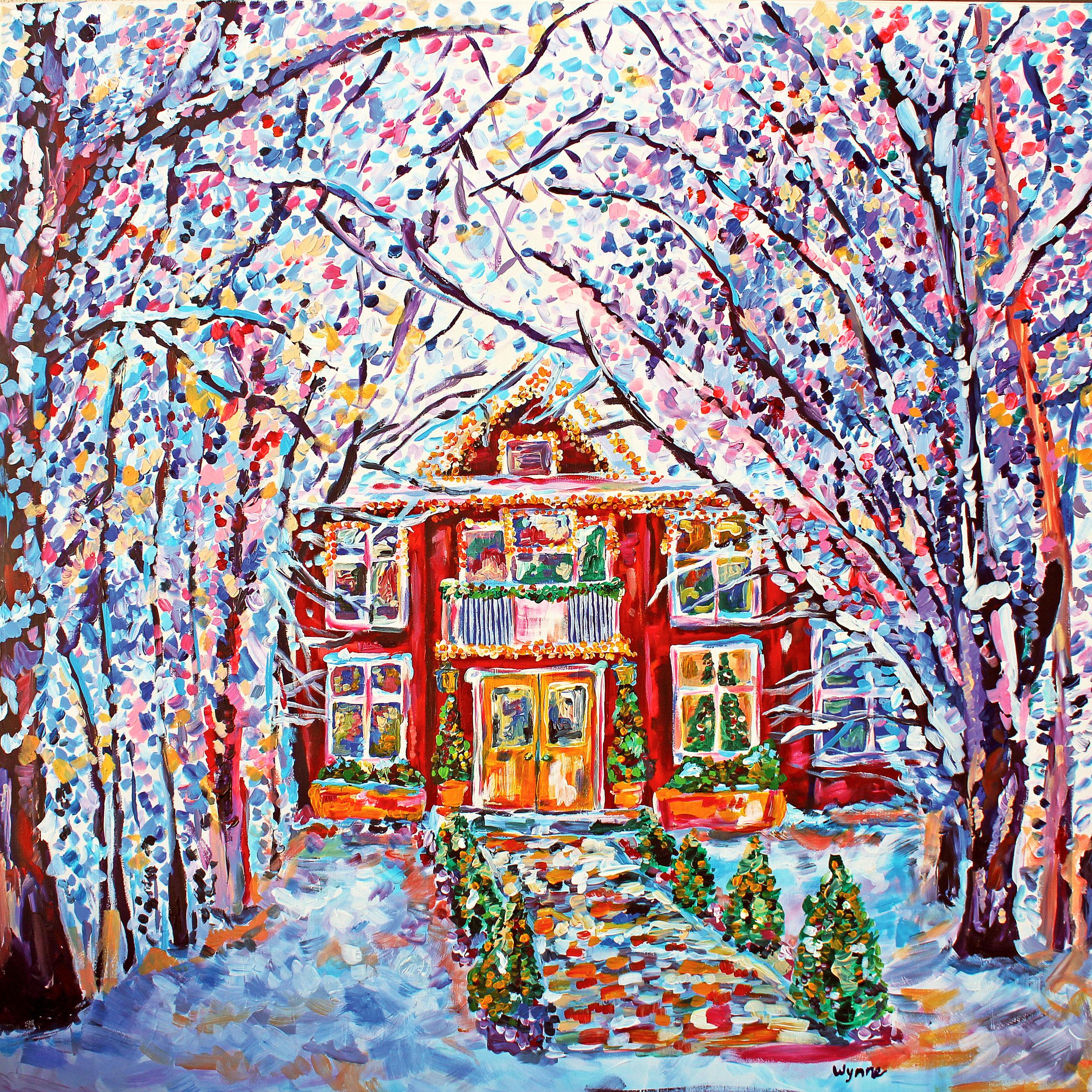 The Red House  Acrylic on muslin 2016